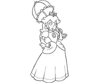#21 Princess Peach Coloring Page