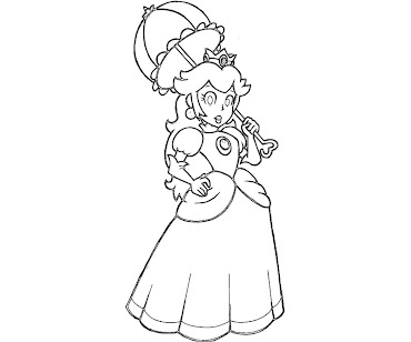 #21 Princess Peach Coloring Page