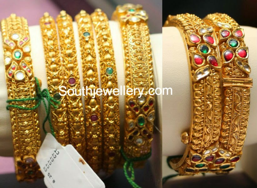 gold broad bangles collectioon