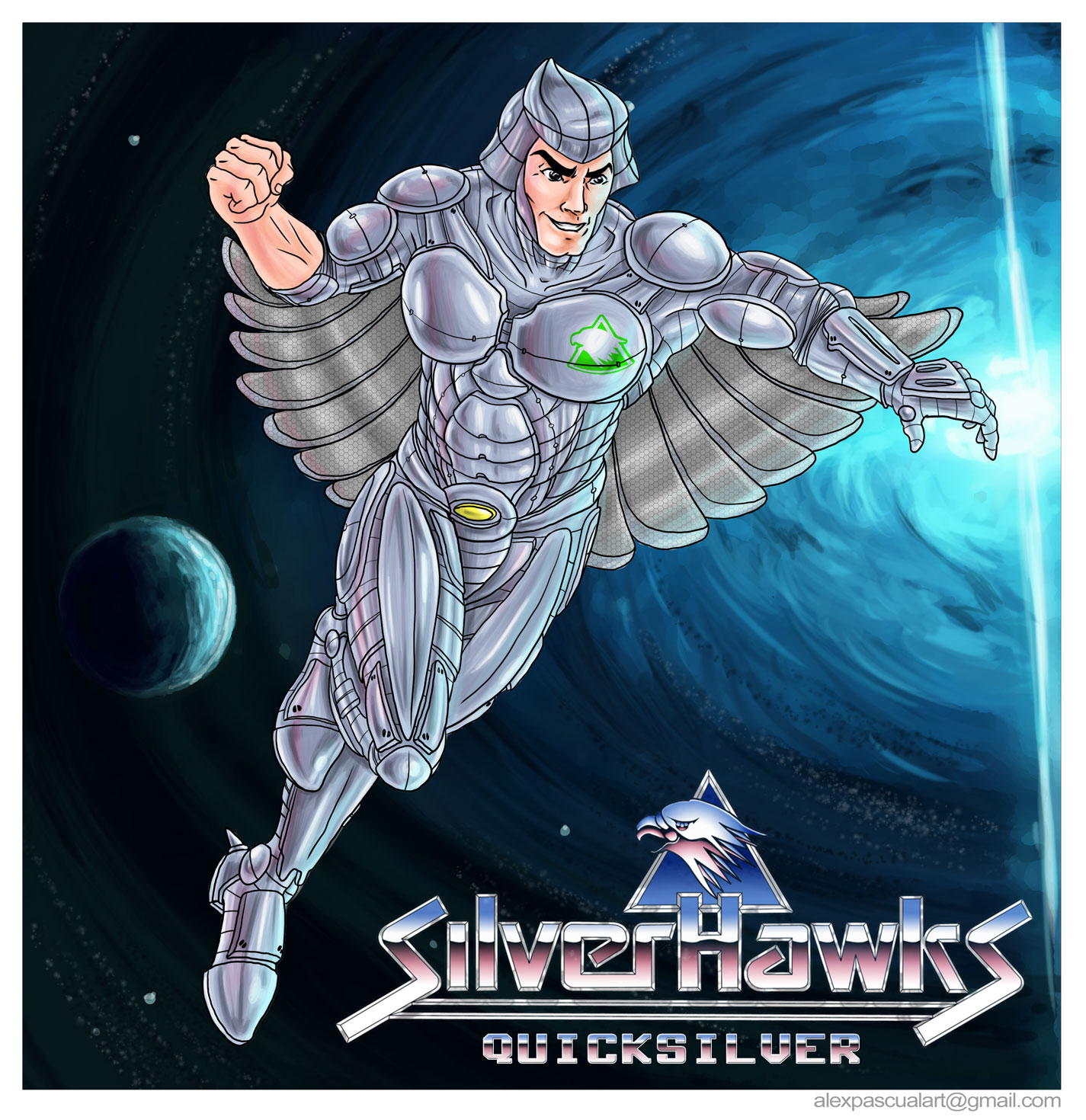 alexpascualart quicksilver silverhawks