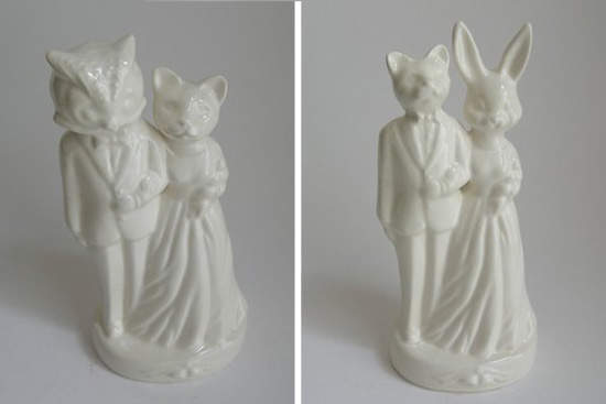 Simple Animals Wedding Cake Toppers