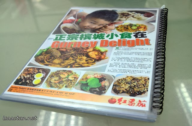 At the back of their menu, there was a short article promoting Gurney Delight Cafe.