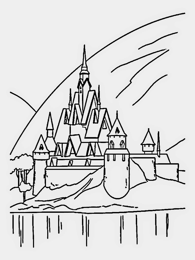 disney movie princesses elsa castle coloring pages