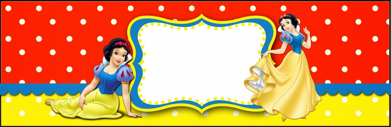 Blancanieves: Etiquetas para Candy Bar para Imprimir ...