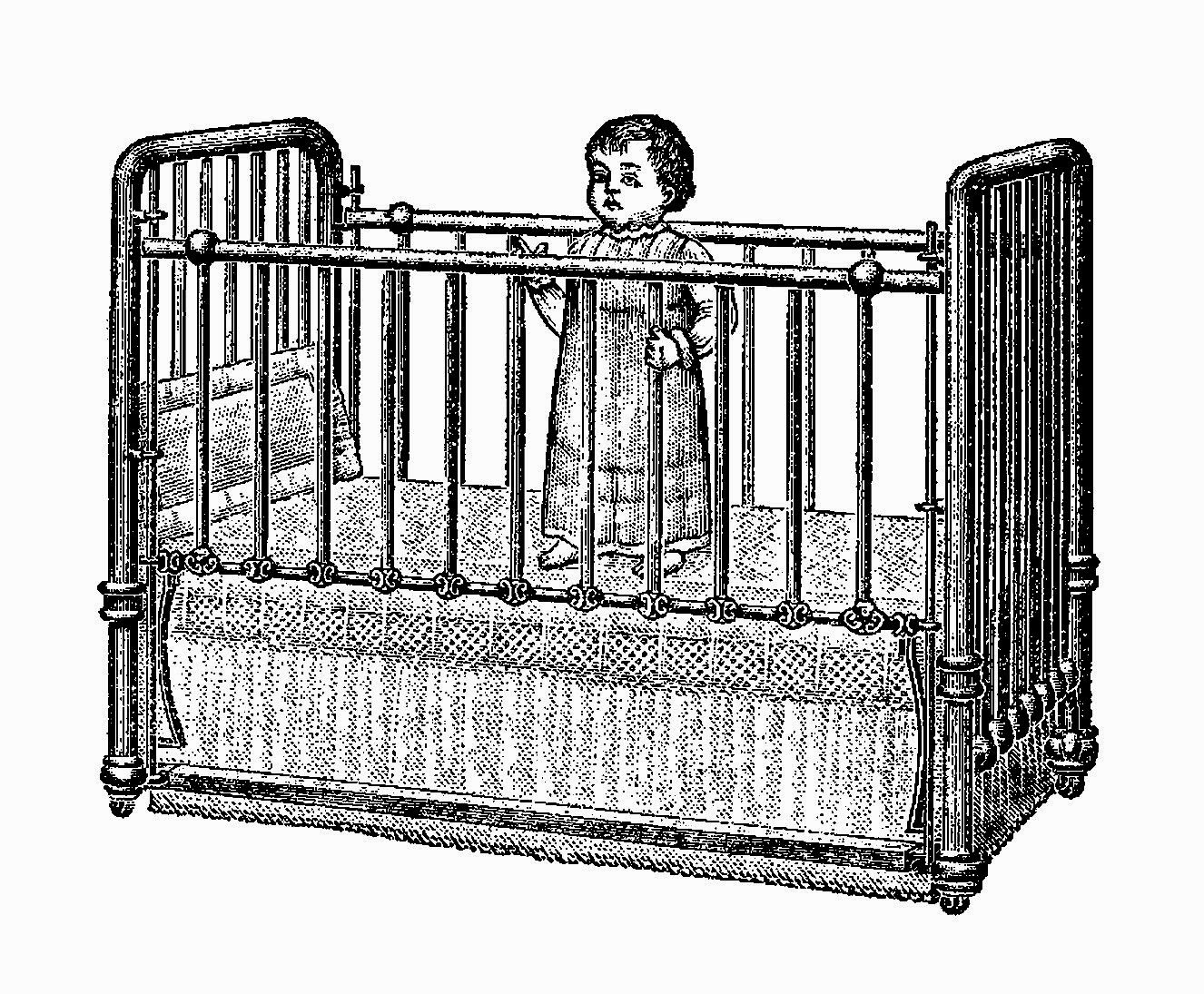 Antique Baby Cribs Antique Images Free Digital Baby Image Transfer Of Infant In