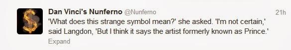 Dan Vinci's Nunferno Twitter account
