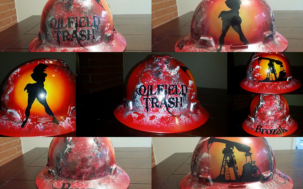 cool hard hat design with hot pinup