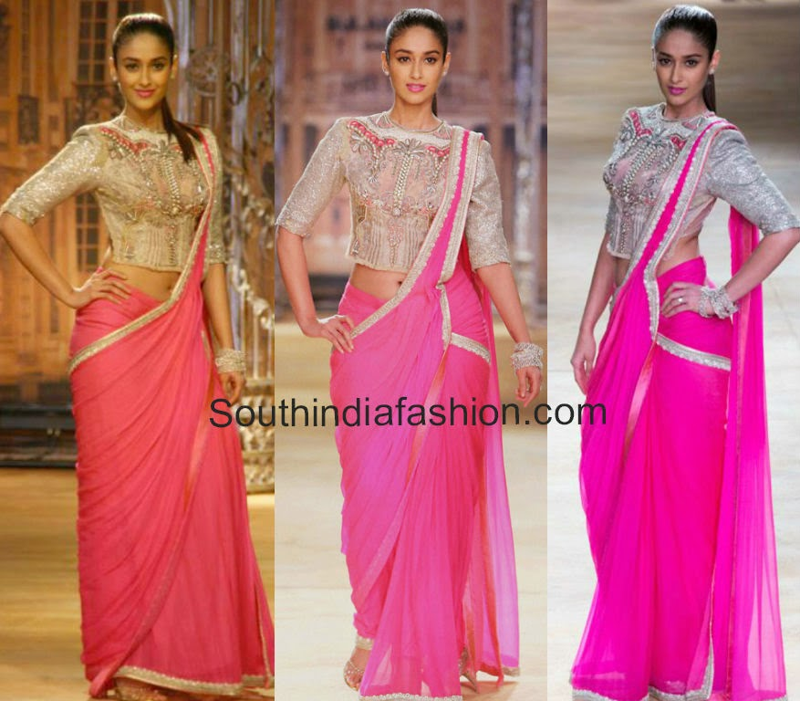 ileana in sulakshana couture saree