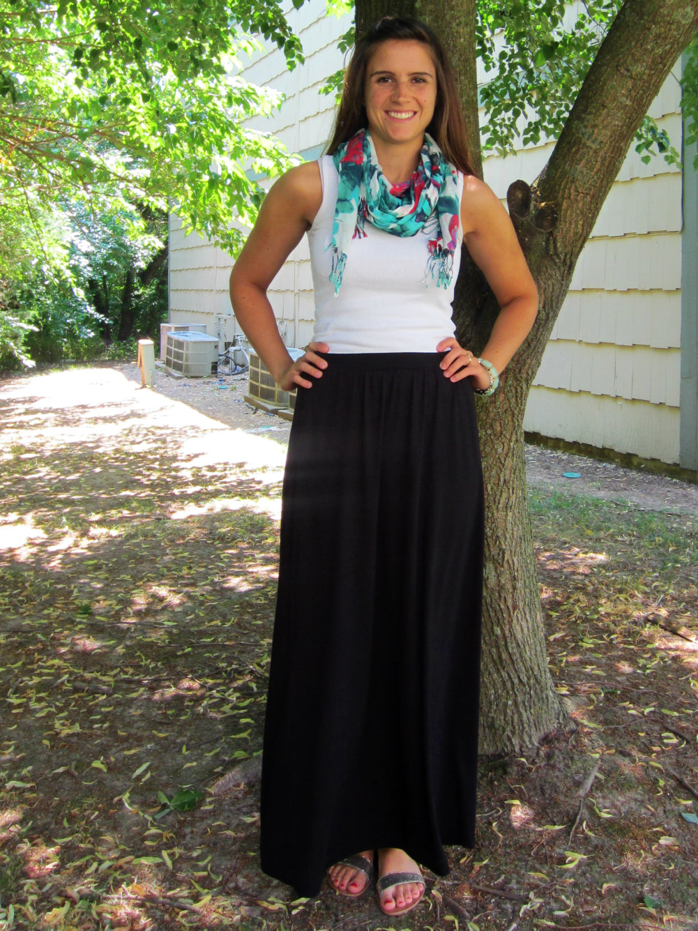 a journey in style: maturity in a maxi skirt