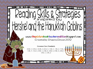 http://www.teacherspayteachers.com/Product/Reading-Skills-Strategies-Packet-inspired-by-Hershel-and-the-Hanukkah-Goblins-420632