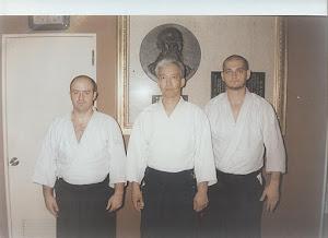 Sensei Sorin Despa-Doshu Moriteru Ueshiba-Sensei Adrian Bunea