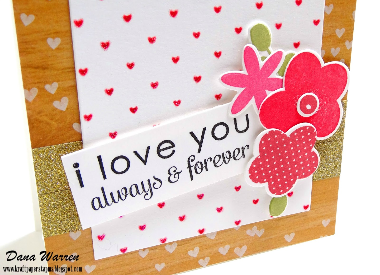 Dana Warren - Kraft Paper Stamps - Reverse Confetti