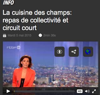©JT RTBF 5 mai 2015 - La Cuisine des champs