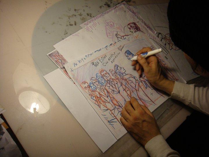 dedicanto un dibujo a Esther Goris