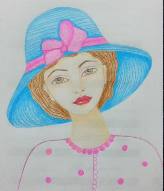 Chica del sombrero azul Eleana