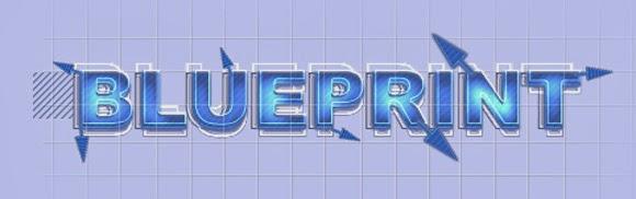 Blueprint Text Effect