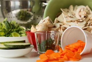 Sastojci potrebni za čorbu od povrća
