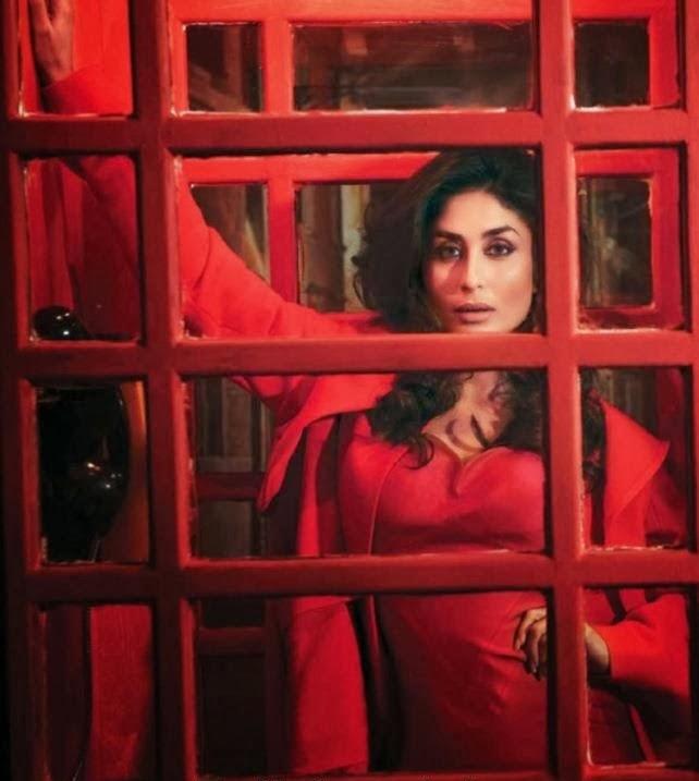 Kareena Kapoor in red gown nip slip pics