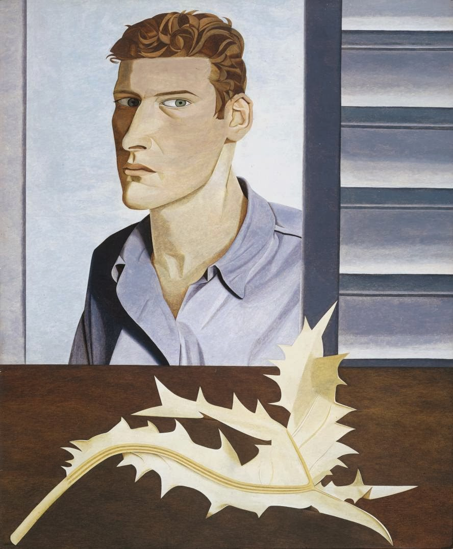 Lucian Freud - Man with a thisle (self-portrait ) 1946.