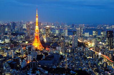 Torre de Tokio - Tokyo tower - Ciudades en la noche