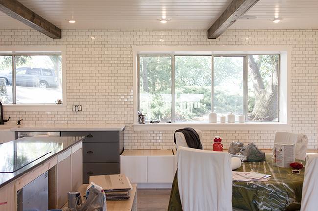 DIY Rustic Floating Shelves Kitchen