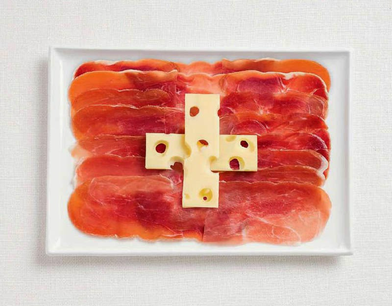 18 National Flags Made From Food - Switzerland