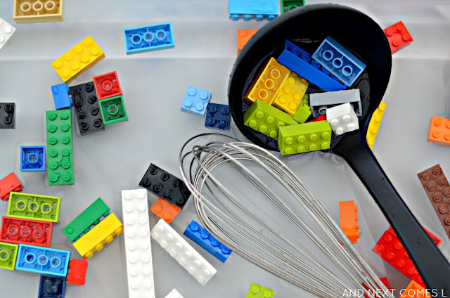 LEGO sensory soup - water play for kids from And Next Comes L