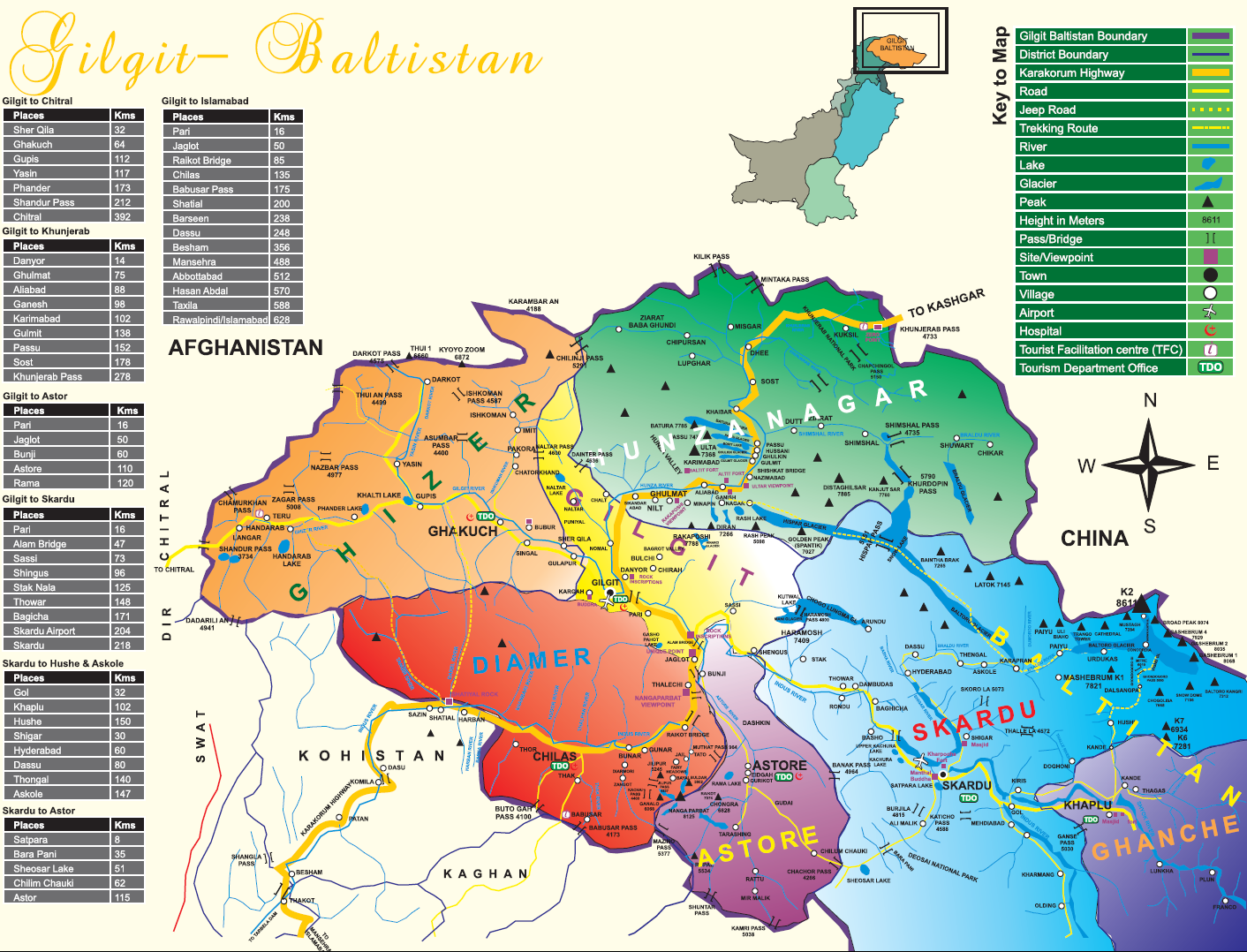 Gilgit Baltistan Map