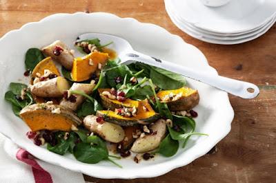 Warm roasted pumpkin and potato salad Recipe
