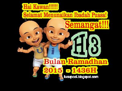 Gambar Kata H-3 Hari Ketiga Puasa Ramadhan 2015 1436 H