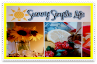 I was featured at Sunny Simple Life  Thank you, Elaine