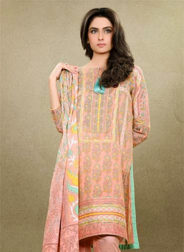 Pakistani lawn dresses 2015