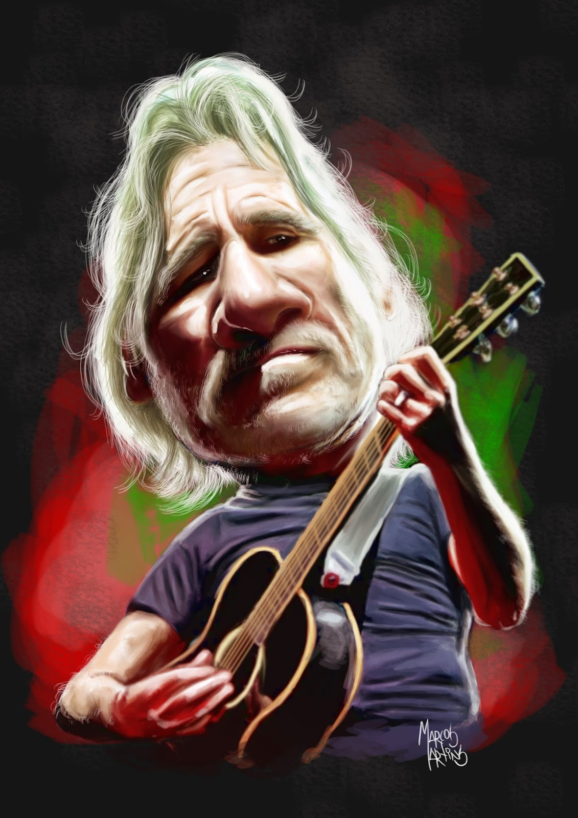 Roger Waters - Pink Floyd (Caricatura)