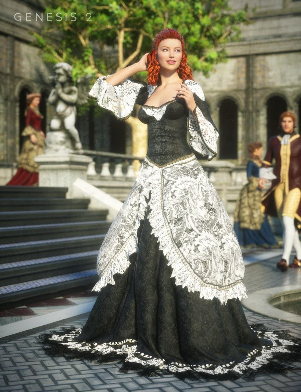 Grande salle de bal Robe Textures