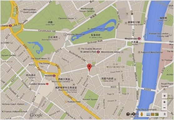 倫敦西敏市宮殿花園地圖