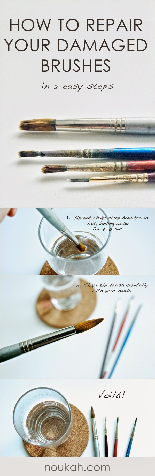 How to repair damaged paint brushes