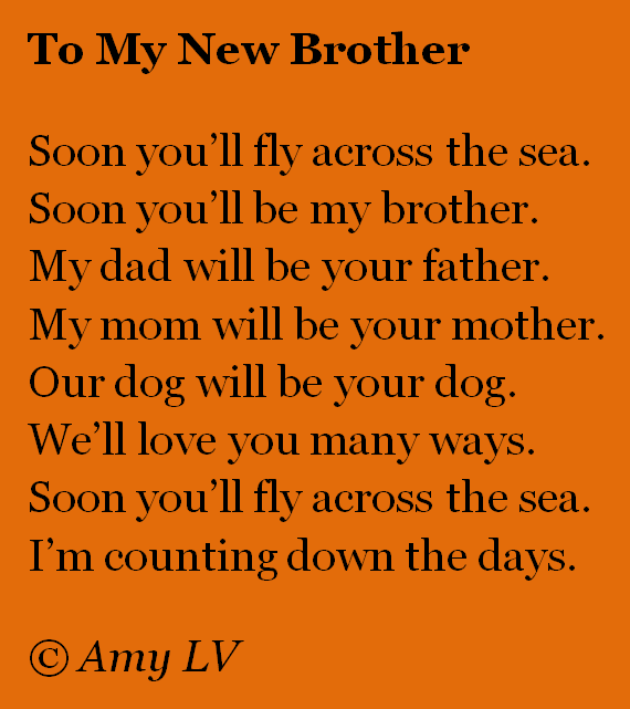 Poems For my Sister in Law This Month my Sister-in-law