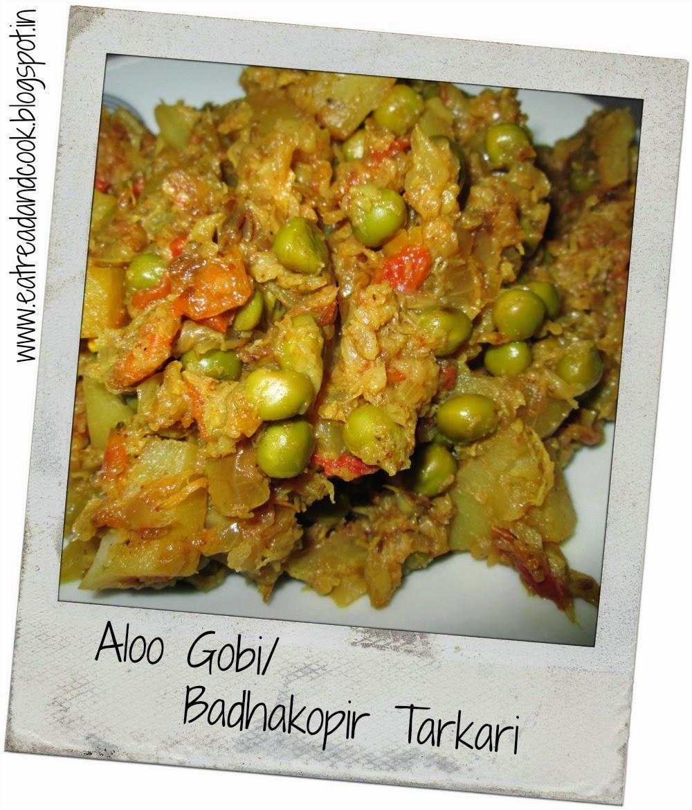 how to cook bengali bandhakopir tarkari bengali dry cabbage curry with peas and potato