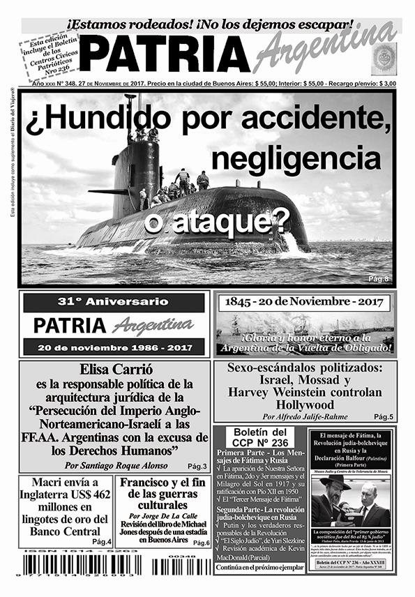Recomendamos: Periódico Patria Argentina