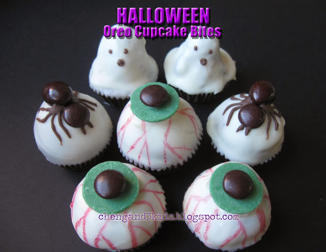 Halloween Oreo Cupcake Bites by Cheng and 3 Kids