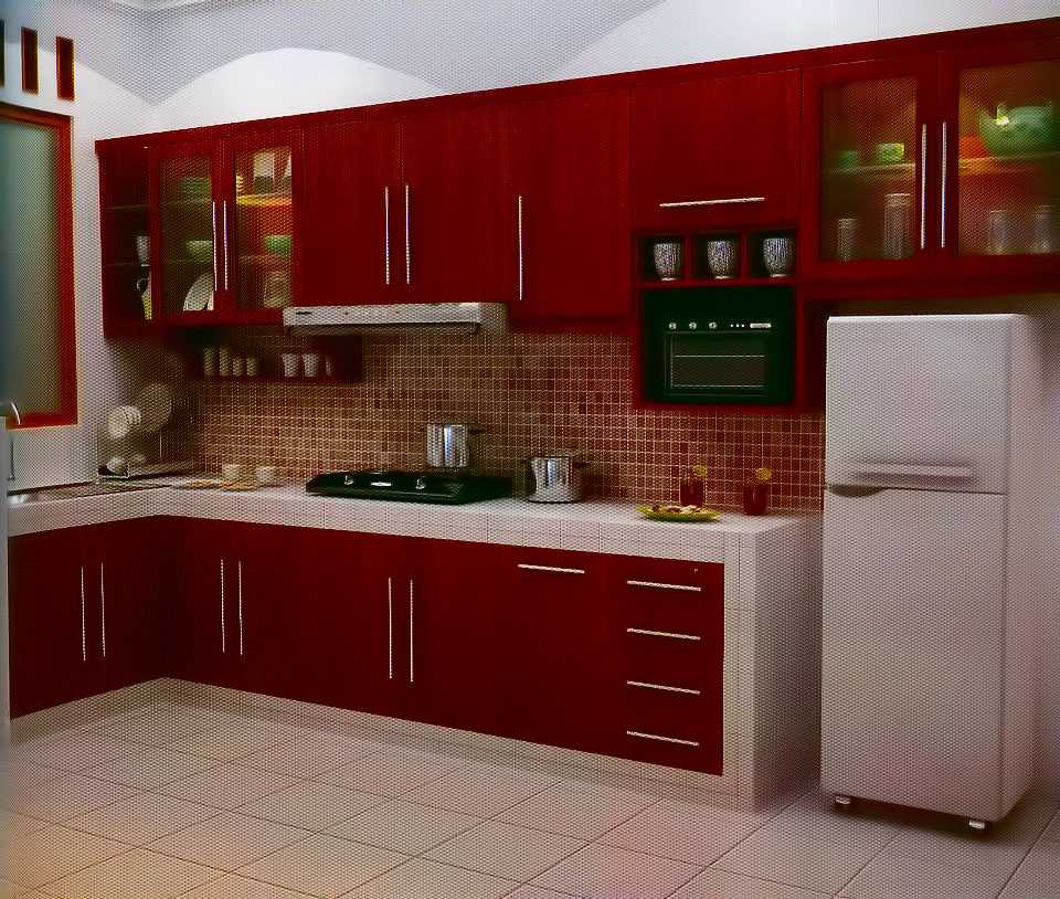 Kitchen set murah for Kitchen setting pictures