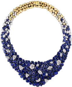 LEVIEV, DUBAI'S DESERT HORIZON DIAMOND AND SAPPHIRE NECKLACE