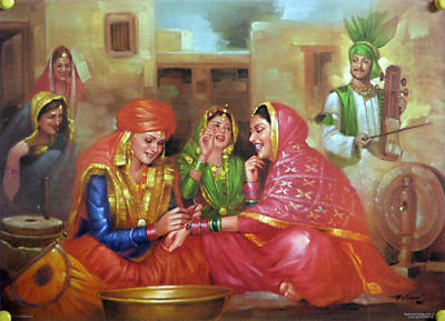 Rajasthani Girls Art Paintings 5