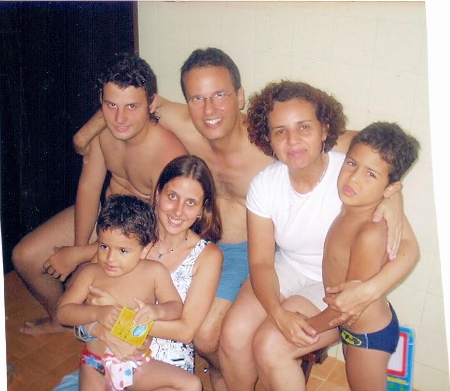 meu filho com a família