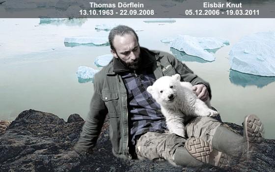 Ziehvater Tom Dörflein mit Knut