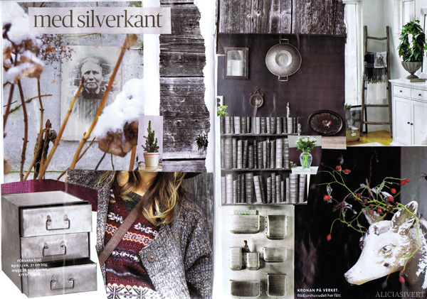 aliciasivert alicia sivertsson collage sköna hem drömhem och trädgård dagens nyheter scrapbook scrap book plommon lila zink silver plum purple winter snow snö