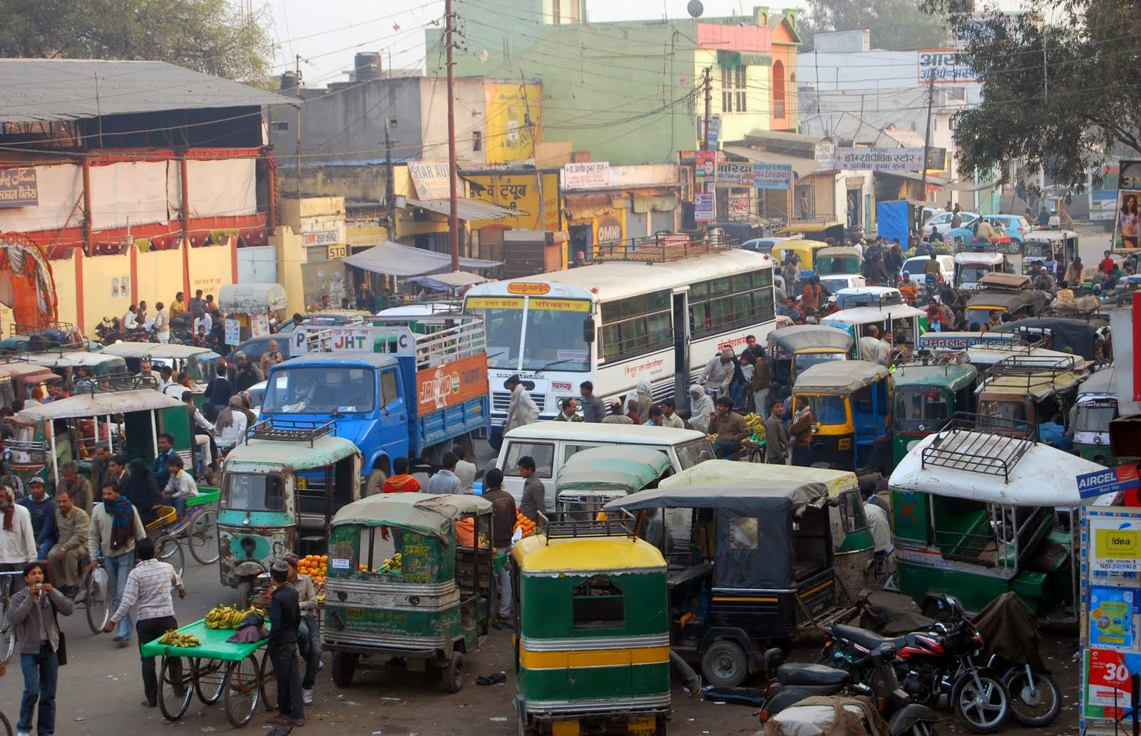 India Clogged Roads