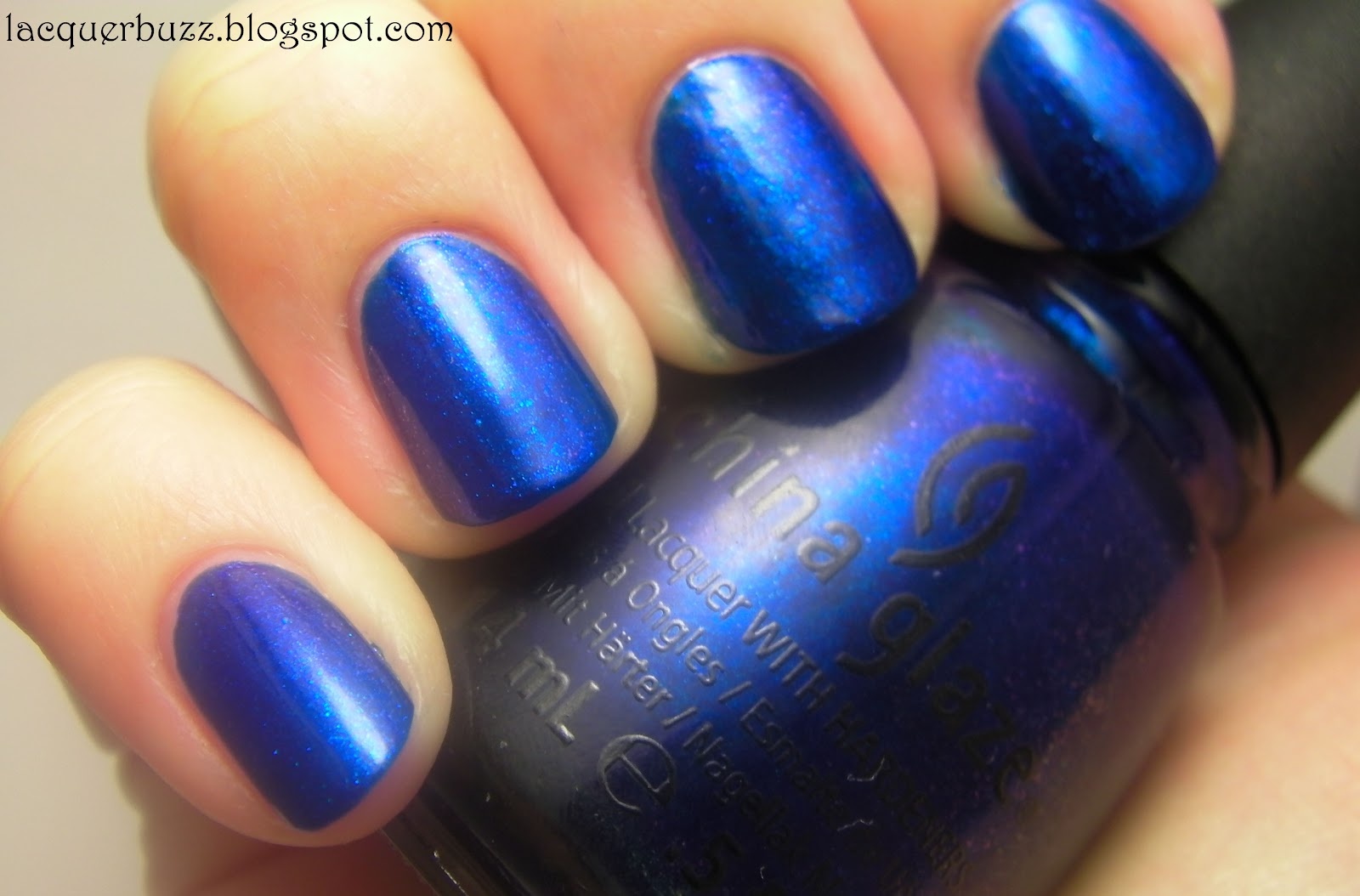 lacquer buzz: china glaze blue year's eve