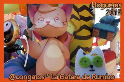 ninot gato Gatera Hogueras 2015