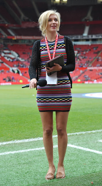 Moderator @ Rachel Riley At Manchester United Legends Charity Match At Old Trafford
